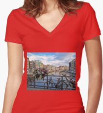 Amsterdam Women's Fitted V-Neck T-Shirt