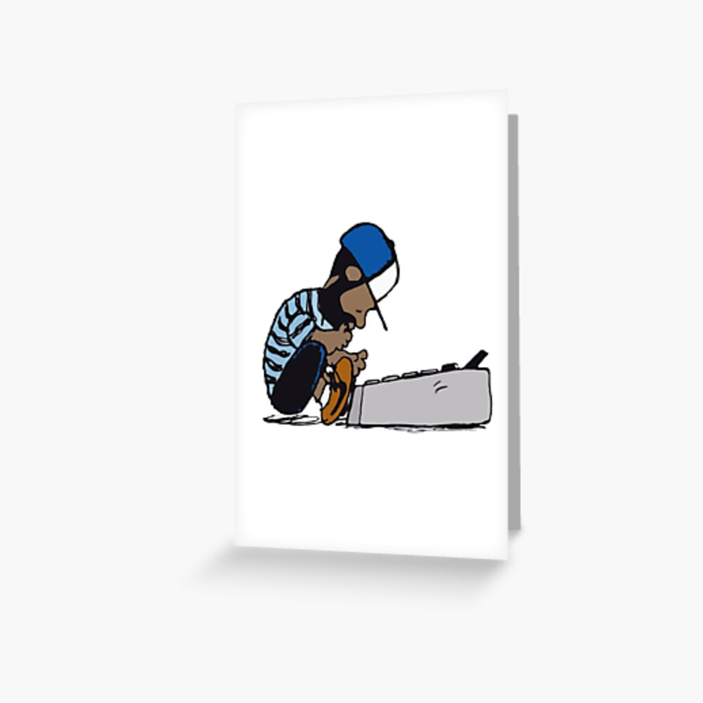 J Dilla Design Greeting Card