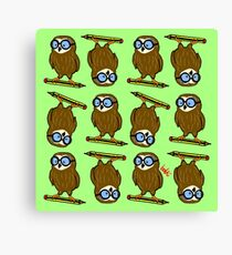 Wise old owl Pattern Canvas Print