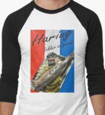 """Haring-  """"herring"""" poster- Amsterdam Men's Baseball ¾ T-Shirt"""