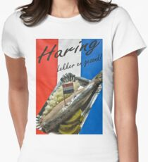 "Haring-  ""herring"" poster- Amsterdam Women's Fitted T-Shirt"
