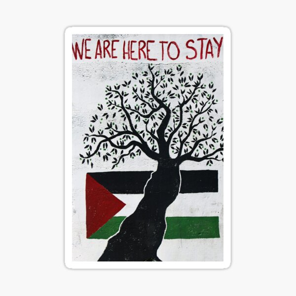 We are here to stay Sticker