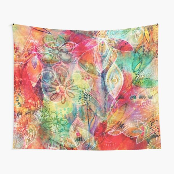 Summer Floral Dreams Tapestry