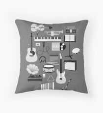 Music Things Throw Pillow