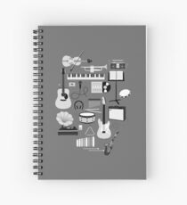 Music Things Spiral Notebook