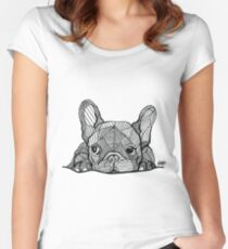 French Bulldog Puppy Women's Fitted Scoop T-Shirt
