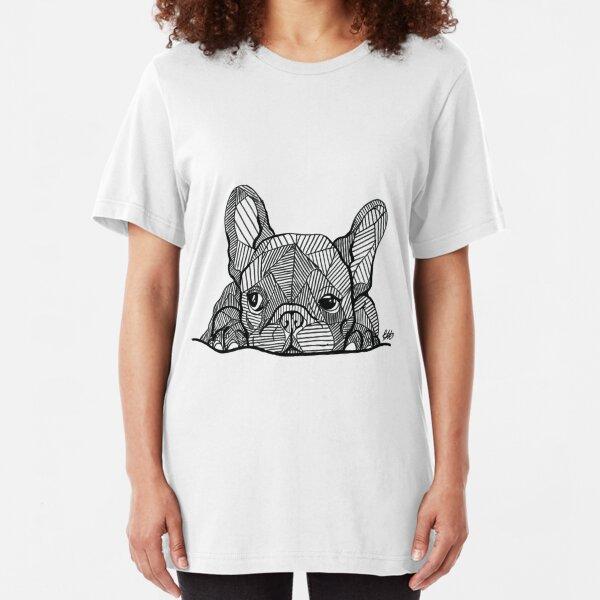 French Bulldog Puppy Slim Fit T-Shirt
