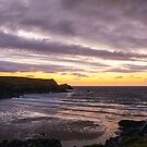 Sunset at Porth Joke Beach II by John Dunbar