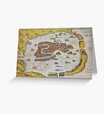 Vintage Map of Venice (1649)  Greeting Card