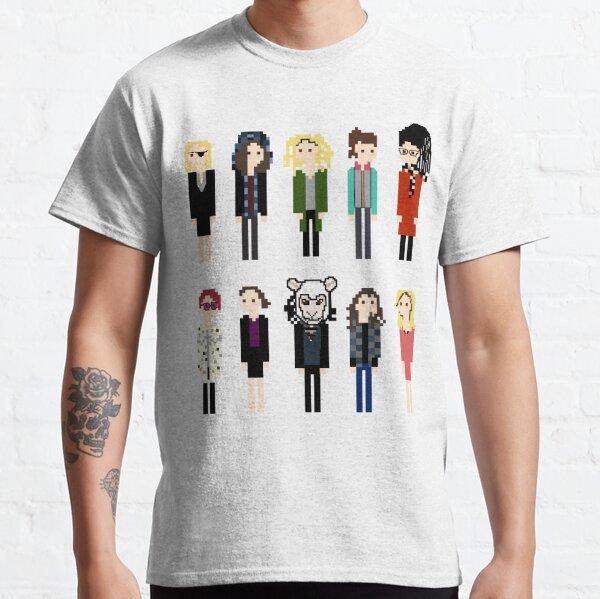 Orphan Black Pixel Clones Classic T-Shirt