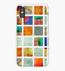Color Block Collage - original abstract art iPhone Case/Skin