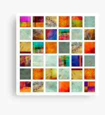 Color Block Collage - original abstract art Canvas Print