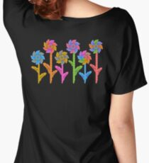 Pinwheel Flowers Women's Relaxed Fit T-Shirt