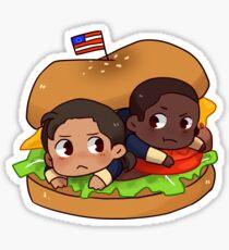 Hamburrger Sticker