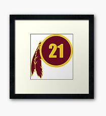 Sean Taylor Redskins Logo Framed Print