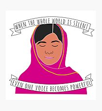 Malala - When The Whole World Is Silent Photographic Print