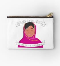 Malala - When The Whole World Is Silent Zipper Pouch