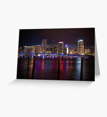 Miami Blue Bridge  Greeting Card