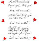 Love one another inspirational verse by Melissa Goza