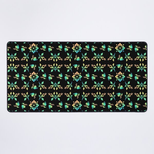 Floral pattern Desk Mat