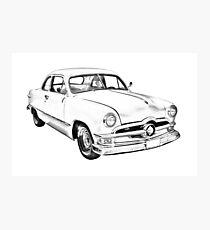 1950  Ford Custom Antique Car Illustration Photographic Print
