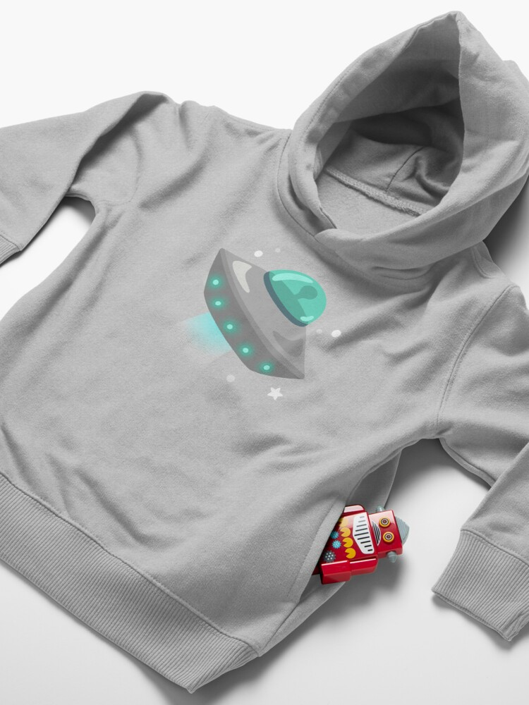 Alternate view of UFO Flying Saucer  Toddler Pullover Hoodie