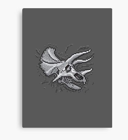 Pixkull - Triceratops  Canvas Print