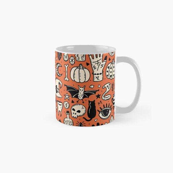 Orange & Black Spooky Halloween Pumpkin Picking Classic Mug