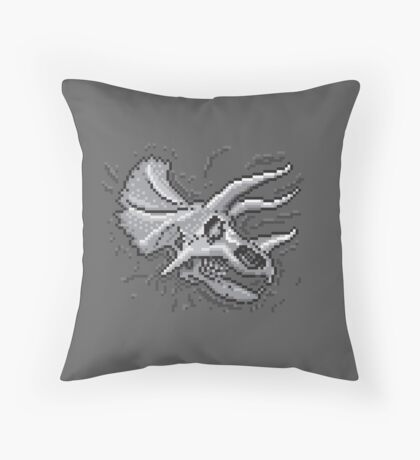 Pixkull - Triceratops  Throw Pillow