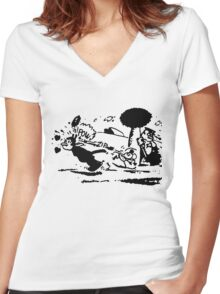 Pulp Fiction Tshirt Women's Fitted V-Neck T-Shirt