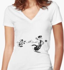Krazy Kat Women's Fitted V-Neck T-Shirt