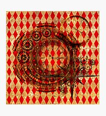 Steampunk Red Harlequin Photographic Print