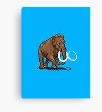 Prehistoric Pixels - Mammoth Canvas Print