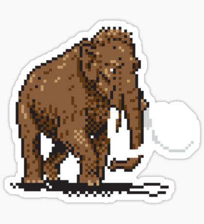 Prehistoric Pixels - Mammoth Sticker