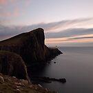Neist Point Lighthouse at Sunset by Maria Gaellman