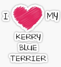 I Love My Kerry Blue Terrier Heart Shirt For Dog Lovers Sticker