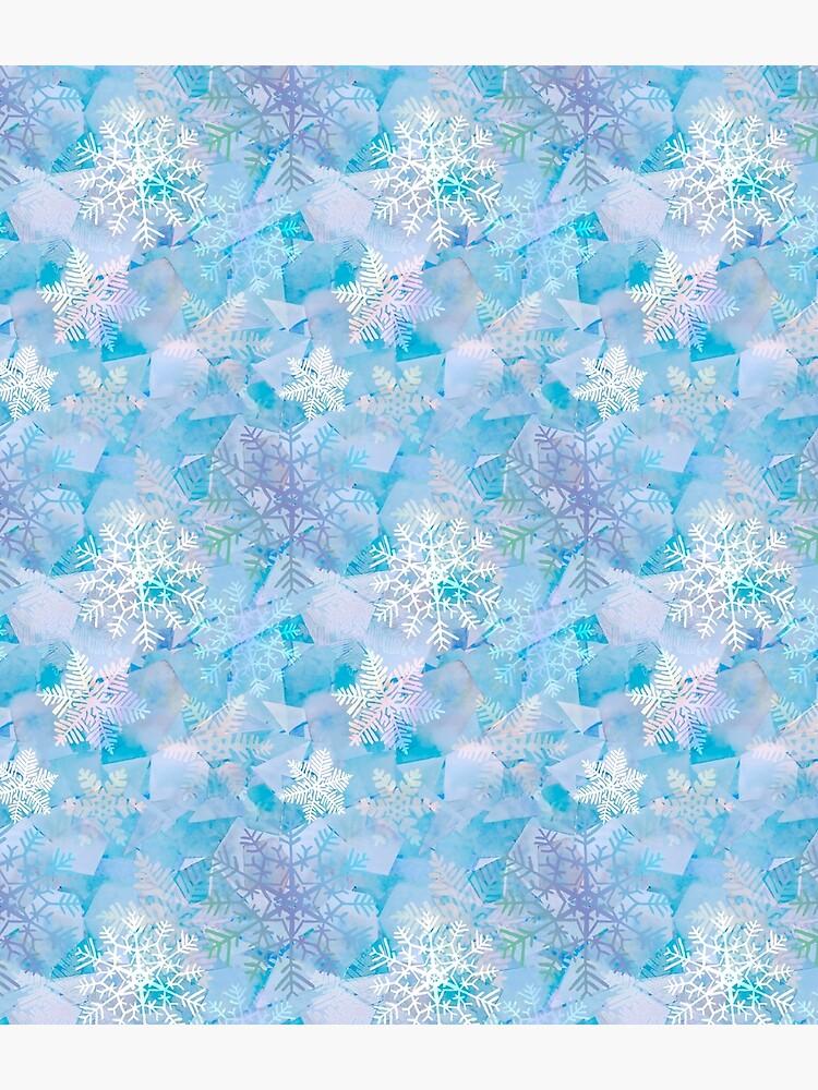 Snowflake crystal Ice  by LeanneTalbot