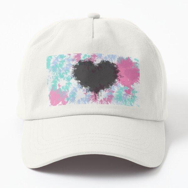 Black heart Dad Hat