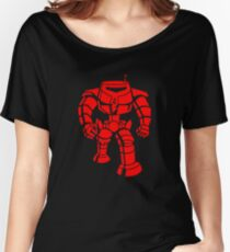 Manbot - Red Women's Relaxed Fit T-Shirt