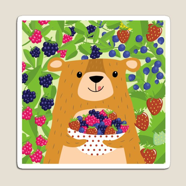 I love berries - Beeriger Bär Magnet