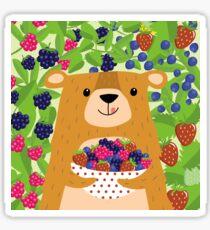 I love berries - Beeriger Bär Sticker
