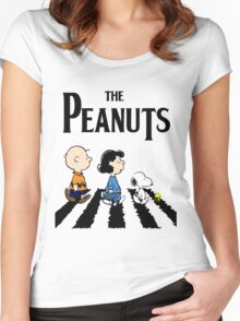 Peanuts Abbey Road Women's Fitted Scoop T-Shirt