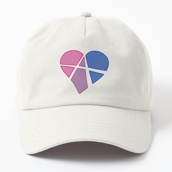 Bisexual Relationship Anarchy Heart (white) Dad Hat