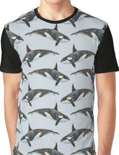 Orca on blue Graphic T-Shirt