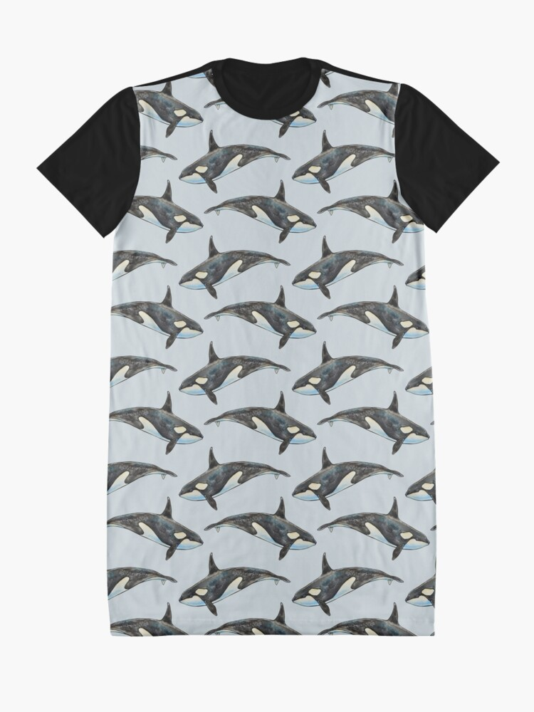 Alternate view of Orca on blue Graphic T-Shirt Dress