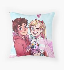 Star Butterfly & Marco, best buds extraordinaires Throw Pillow