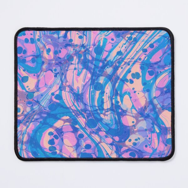 Pink, blue, purple swirl marbled design Mouse Pad