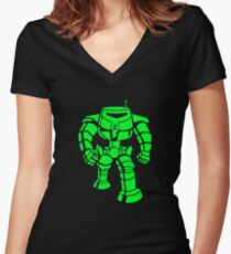Manbot - Super Lime Variant Women's Fitted V-Neck T-Shirt
