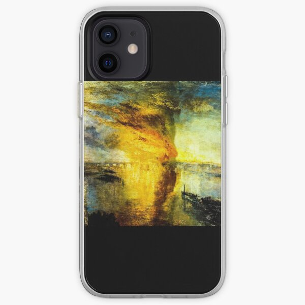 The Burning of the Houses of Parliament by J. M. W. Turner iPhone Soft Case
