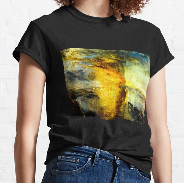 The Burning of the Houses of Parliament by J. M. W. Turner Classic T-Shirt